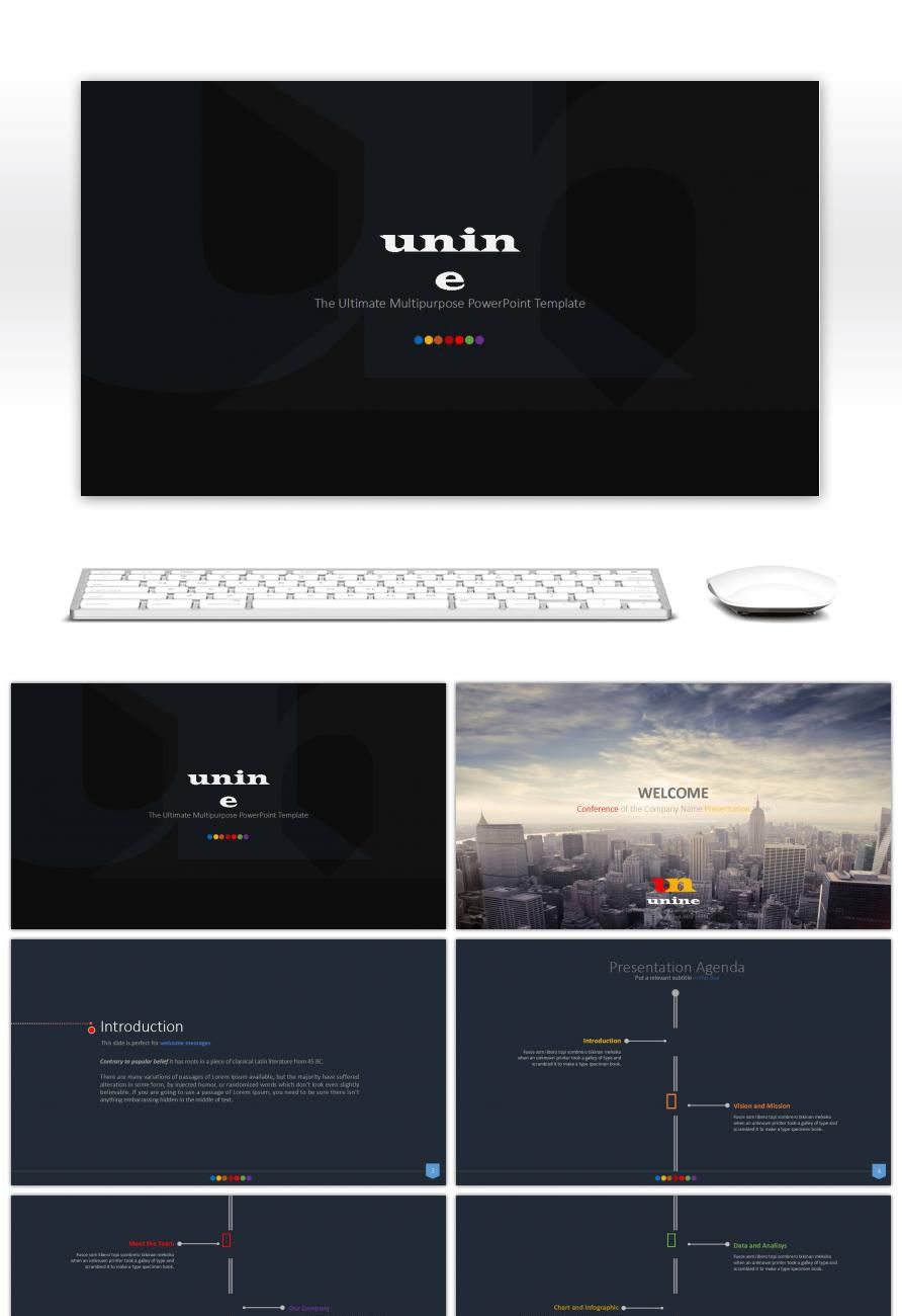 awesome black business ppt template boutique for unlimited download, Powerpoint Template Business Product Overview Presentation, Presentation templates