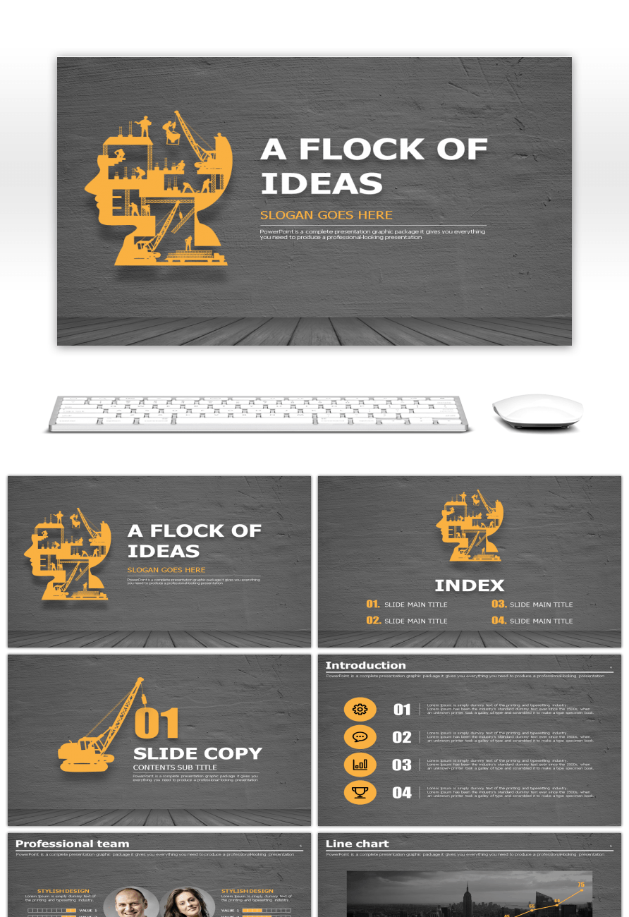 Awesome head image creative design business ppt template for Free ...