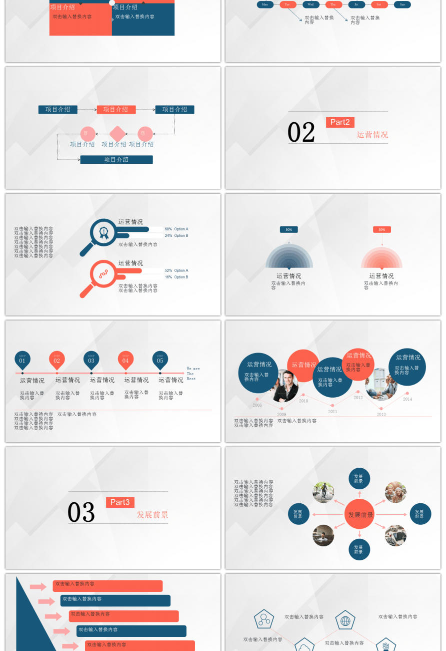 awesome brief product group project team report ppt template for