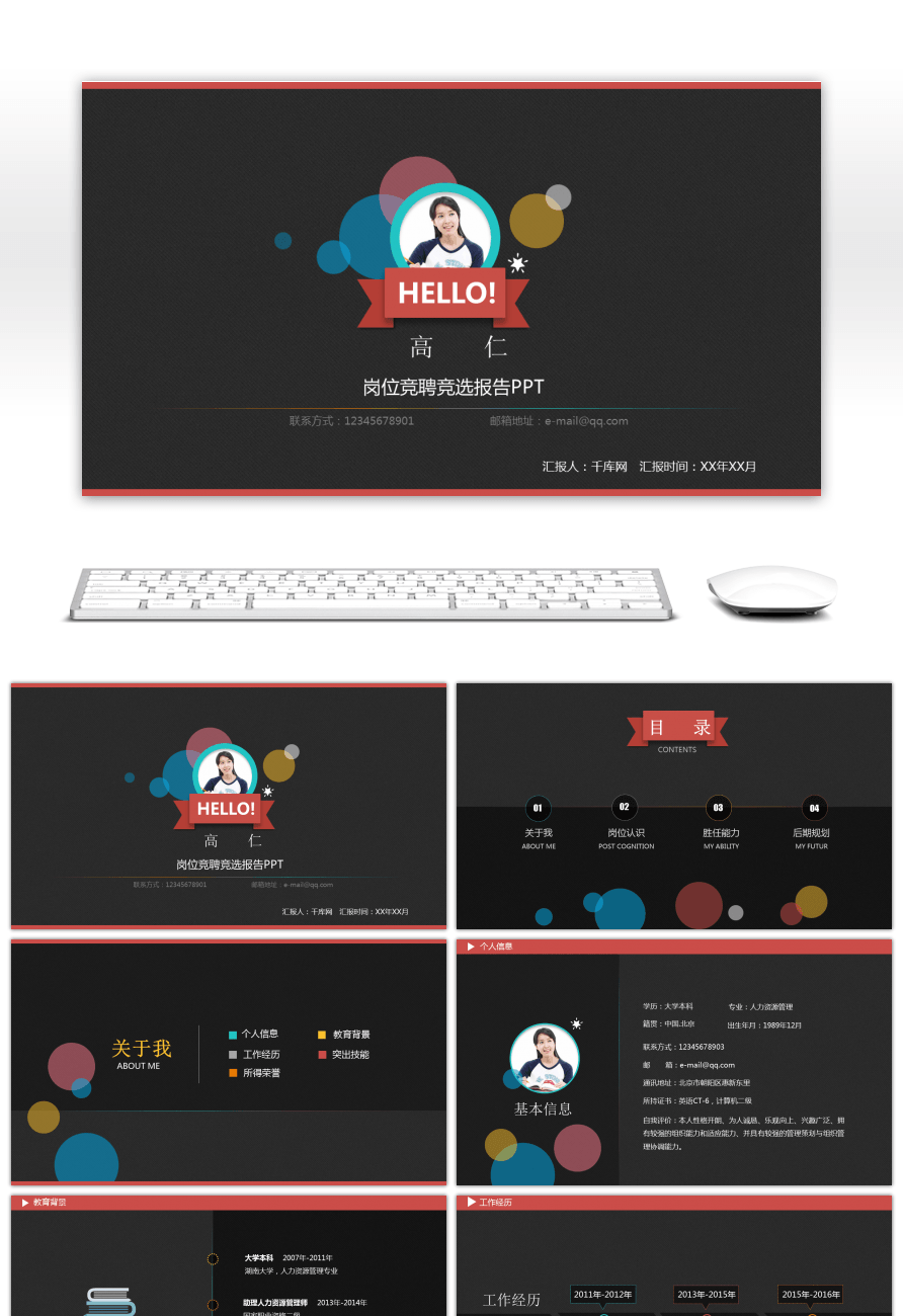 Awesome post competition campaign report personal resume ppt for