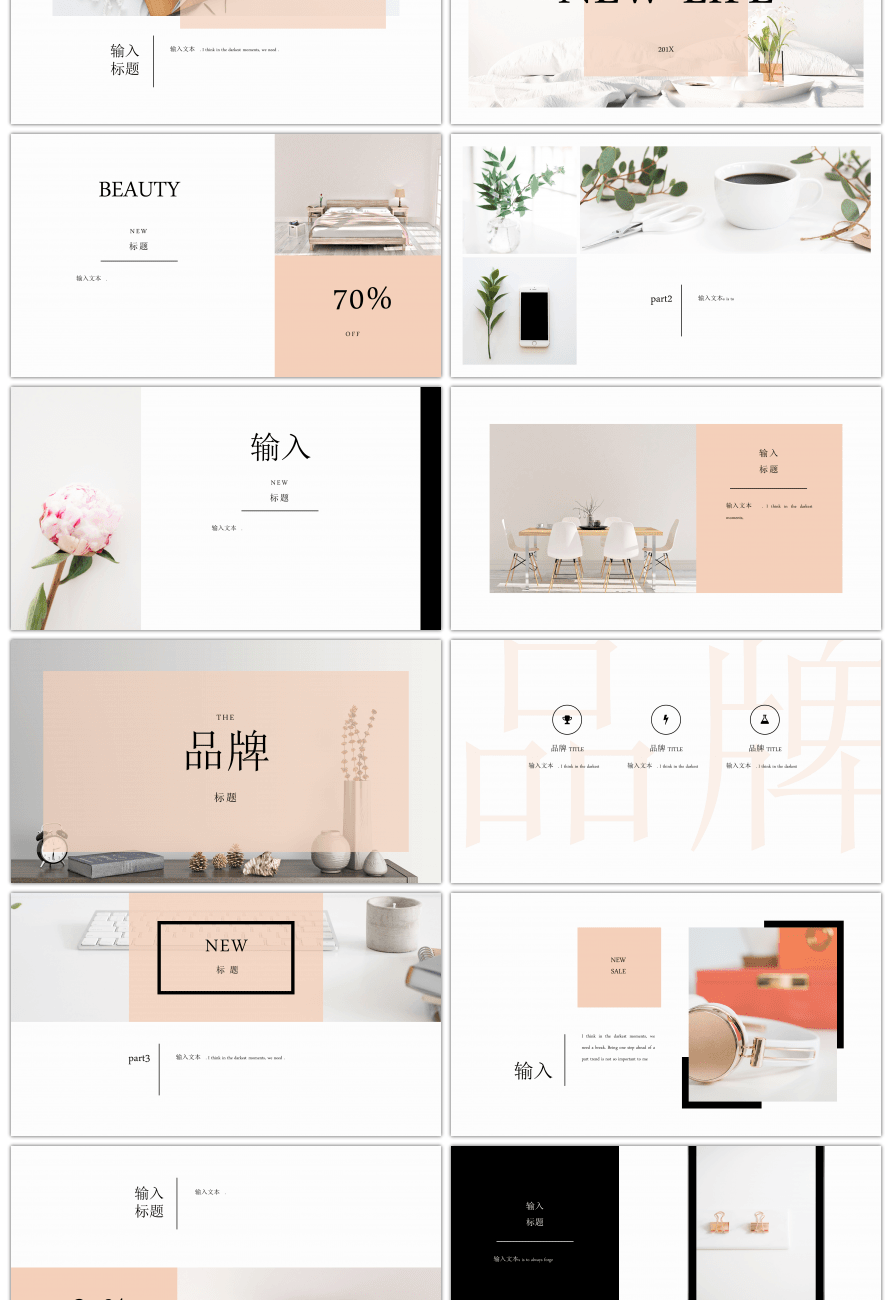 Brief Aesthetical Product Promotion Conference PPT Template
