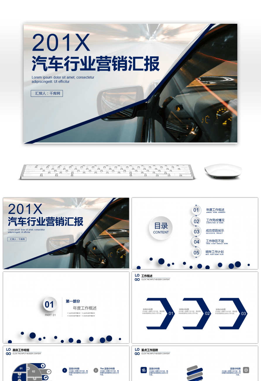 Awesome automobile industry marketing report ppt template for