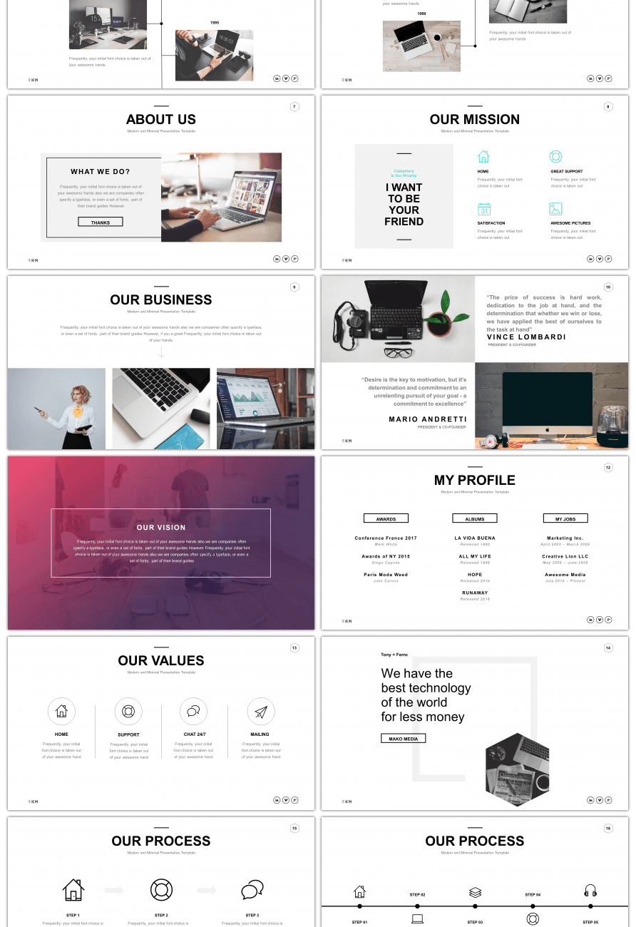 awesome fashion atmosphere business ppt template for unlimited