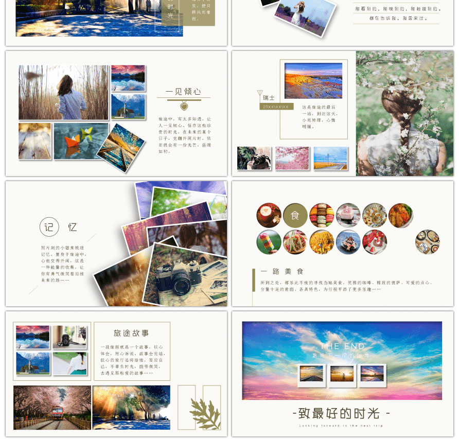 Awesome travel photo album travel diary ppt template for Unlimited ...