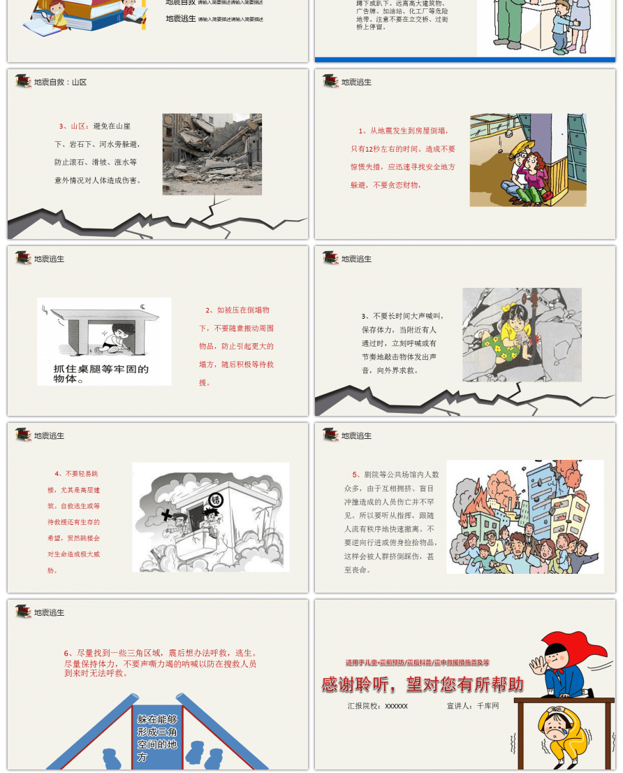 Awesome ppt template for childrens knowledge education on ppt template for childrens knowledge education on earthquake safety toneelgroepblik Choice Image