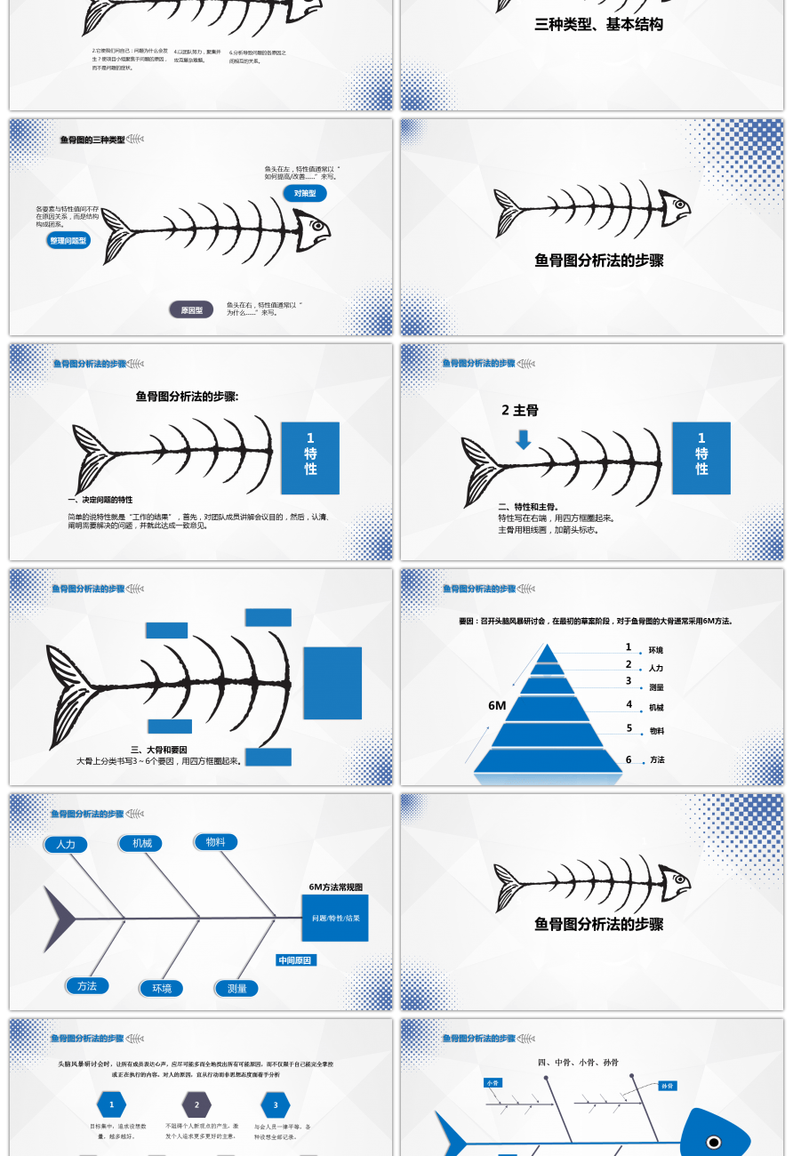 Simplified Fish Bone Chart Ppt 4