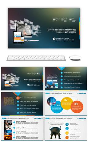 Ppt template for modern science and technology business