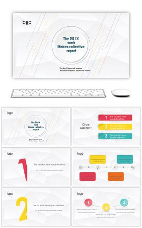 Summary of circular creative micro and simple work summary ppt template