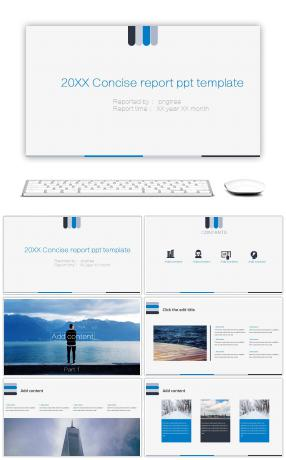 201x simple and clear PPT template