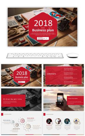 European and American business business business undertaking plan book PPT template