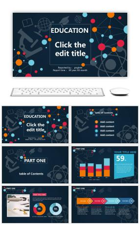 General purpose PPT template for teaching and training courseware
