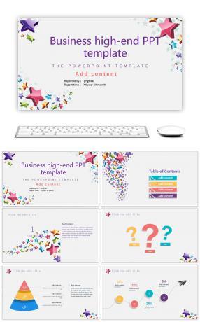Design of high end PPT template for business