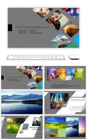 European and American fashion design product publicity ppt template