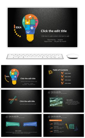 Creative powerpoint templates 8774 easy to edit ppt templates summary of ppt templates in a lively business year toneelgroepblik Image collections