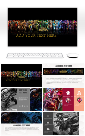 1 Ppt Template For The Theme Of The Game Powerpoint Templates For