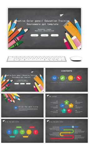 332 classroom powerpoint templates for unlimited download on pngtree creative color pencil education and training courseware ppt template toneelgroepblik Image collections