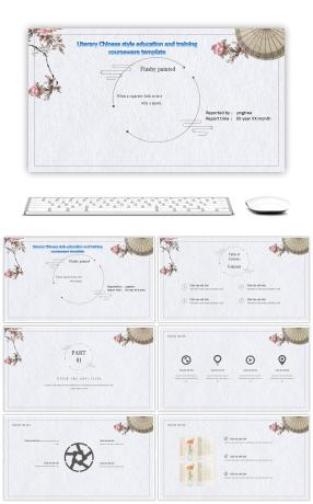 Free powerpoint templates 32817 ppt templates free download on ppt template for chinese wind education and training courseware for chinese literature and art toneelgroepblik Images