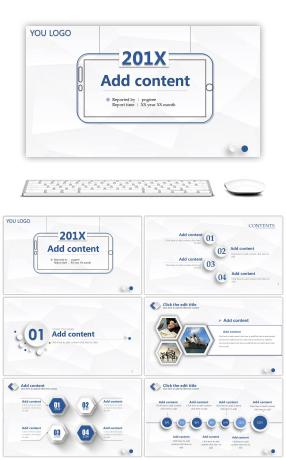 Creative microsome work report summary PPT template
