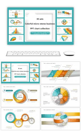 32777 ppt template for science and technology powerpoint 30 sets of colorful micro stereoscopic business ppt charts toneelgroepblik Choice Image
