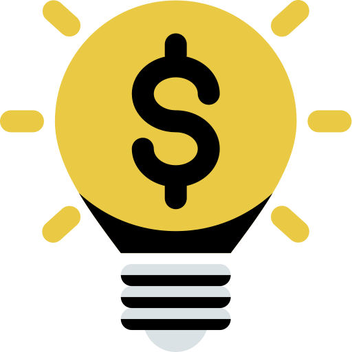 Lightbulb Idea, Lightbulb, Monitpr Icon