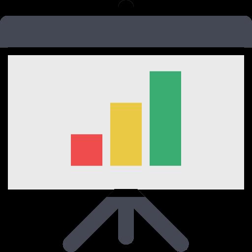 Presentation Bar Chart, Chart Presentation, Multimedia Icon