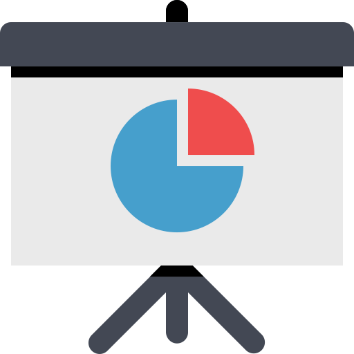 Presentation Pie Chart, Chart Presentation, Multimedia Icon