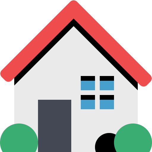 Top View Of The Green Car Green Home Icon With Png And Vector