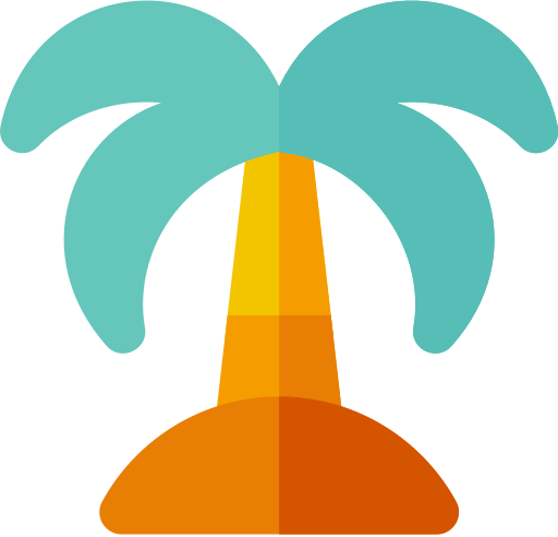 Palm Tree, Palm Tree, Sea Icon