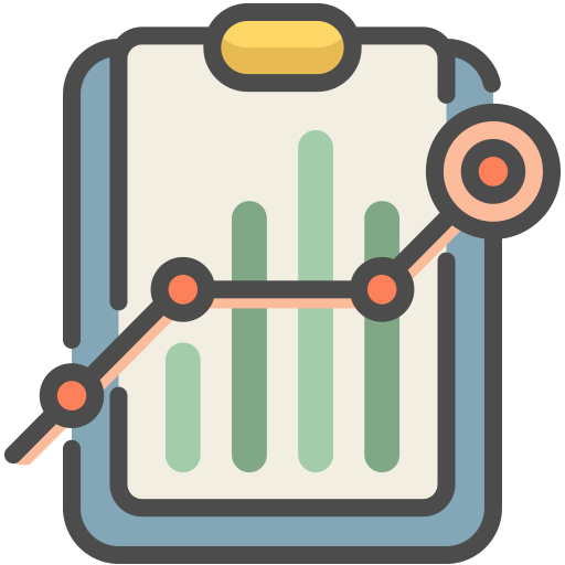 Analytics, Business Report, Charts Icon