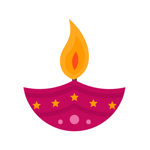 Candle 3, Fill, Multicolor Icon