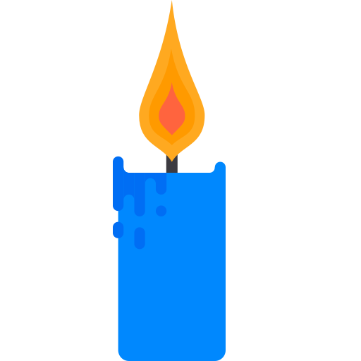 Candle 1, Fill, Multicolor Icon