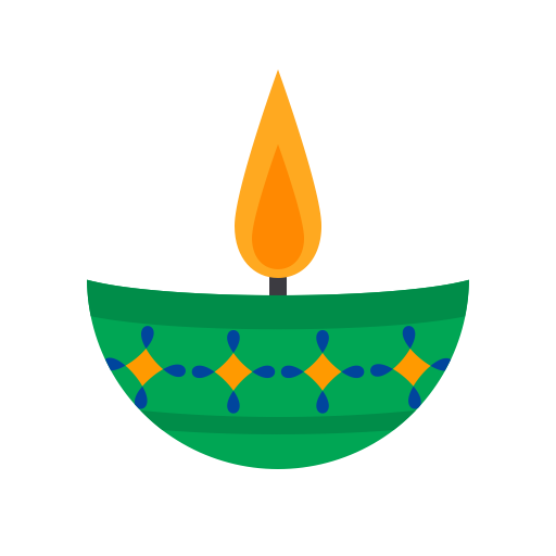 Candle 5, Fill, Multicolor Icon