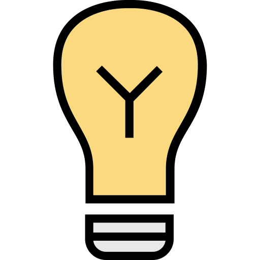 Bulb, Multicolor, Electric Icon
