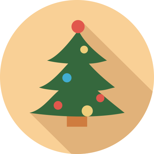 Fill, Christmas Tree, Holiday Icon