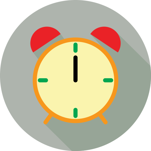 Fill, Multicolor, Clock Icon