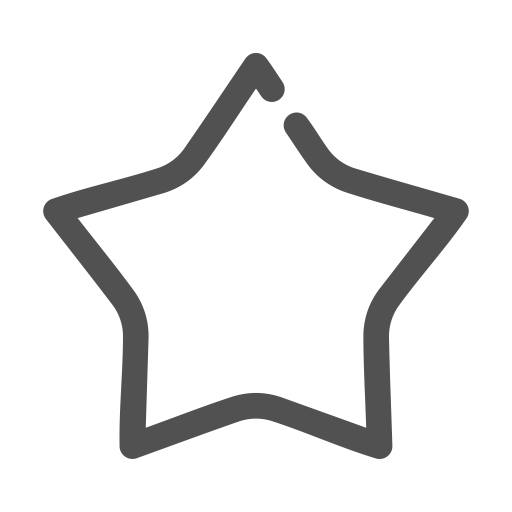 Star, Linear, Simple Icon