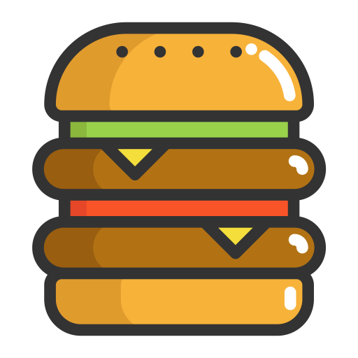 Burger, Hamburger, Fruits Icon