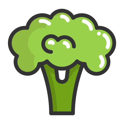 Broccoli, Fruits, Food Icon