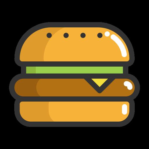 Burger, Hamburger, Fruits Icon