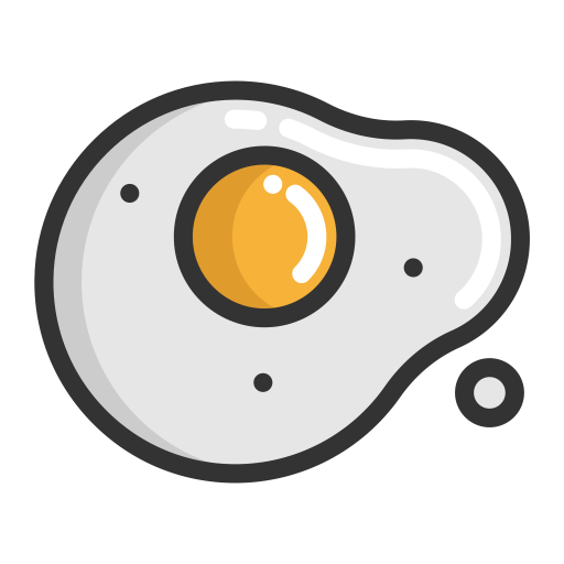 Fried Egg, Fried Egg, Fruits Icon