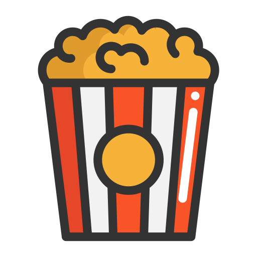 Popcorn, Popcorn, Fruits Icon