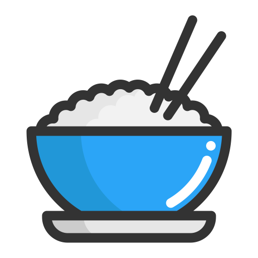 Rice, Steamed Rice, Fruits Icon