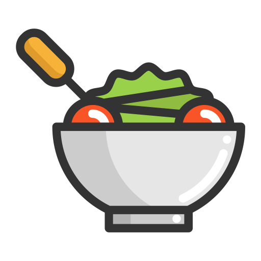 Salad, Salad, Fruits Icon