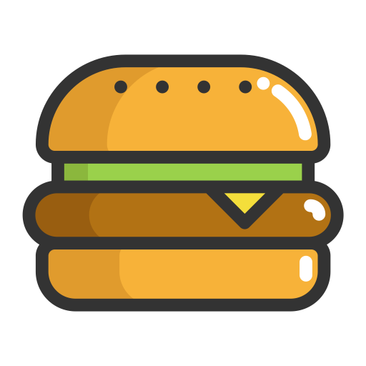burger icon png hamburger, fill, flat icon png and vector for free download