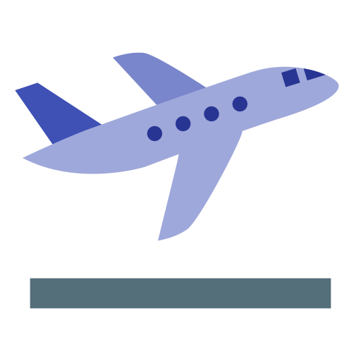 Airplane Take Off, Travel, Interface Icon