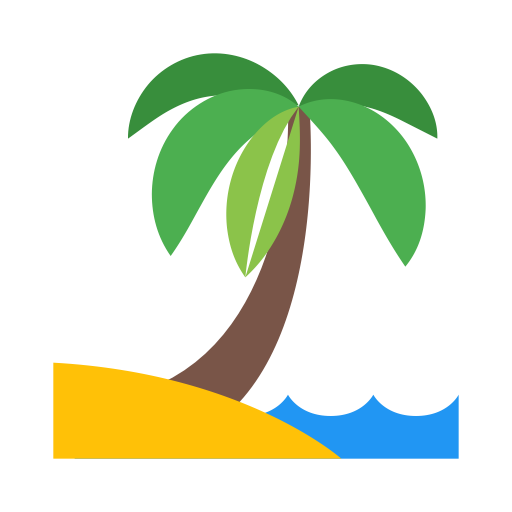 Beach, Coconut, Plantation Icon