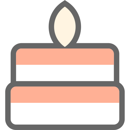 Birthday Cake, Cake, Candle Icon