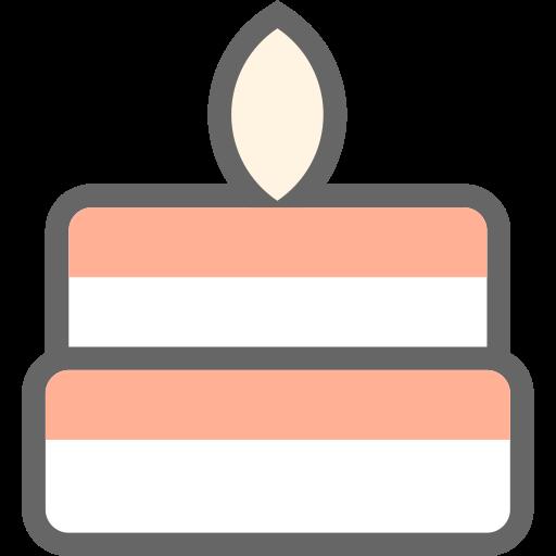 Birthday Cake, Cake, Candle Icon