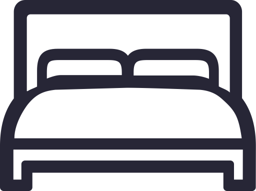 Bed, Double Bed, Furniture Icon
