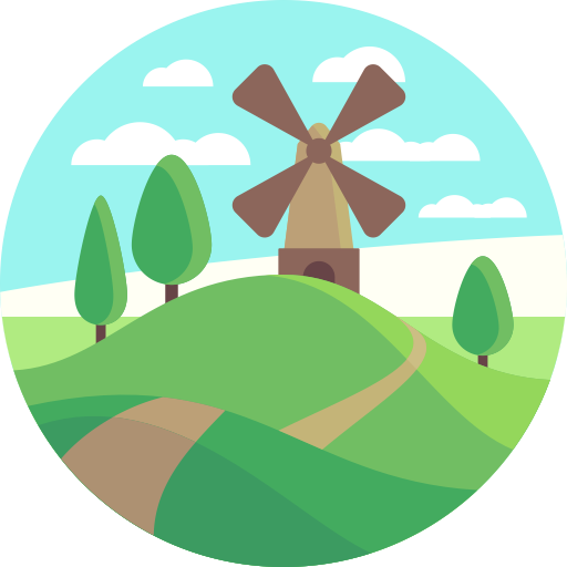 Windmill, Technology, Energy Icon